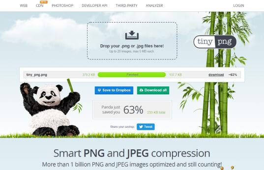 Utilizar o tiny png para otimizar imagens em site
